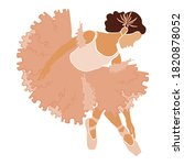 ballerina in pink ballet tutu.... | Shutterstock .eps vector #1820878052