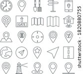 map and navigation vector...   Shutterstock .eps vector #1820880755