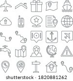 map and navigation vector...   Shutterstock .eps vector #1820881262