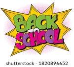 back to school banner in the... | Shutterstock .eps vector #1820896652