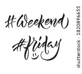 hashtag weekend and hashtag... | Shutterstock .eps vector #1820896655