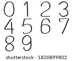 vector number 0 to 9 freehand.... | Shutterstock .eps vector #1820899802