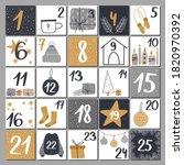 christmas advent calendar with... | Shutterstock .eps vector #1820970392