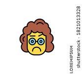 emoji logo illustration. pixel ... | Shutterstock .eps vector #1821013328