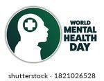 world mental health day.... | Shutterstock .eps vector #1821026528