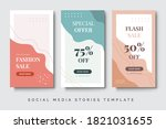 colorful social media stories... | Shutterstock .eps vector #1821031655