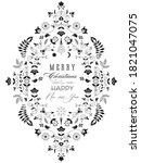 floral vintage ornate element.... | Shutterstock .eps vector #1821047075