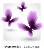 violet butterflies fluttering... | Shutterstock .eps vector #182107466