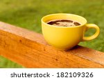 yellow coffee cup | Shutterstock . vector #182109326