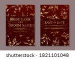 modern luxury card templates...   Shutterstock .eps vector #1821101048