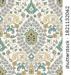 traditional seamless damask ... | Shutterstock .eps vector #1821132062