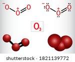 ozone  o3  trioxygen  inorganic ... | Shutterstock .eps vector #1821139772