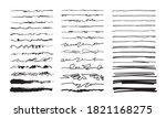 hand drawn doodle lines.... | Shutterstock .eps vector #1821168275