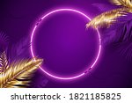 purple neon frame surrounded by ... | Shutterstock .eps vector #1821185825