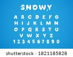 Snowy Winter Font Isolated On...