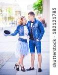 jeans wedding | Shutterstock . vector #182121785