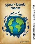 earth poster template  ... | Shutterstock .eps vector #182122745