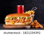 Fried Chicken Sandwich With...