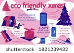 eco friendly cristmas ideas for ... | Shutterstock .eps vector #1821239432