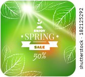 spring sale banner | Shutterstock .eps vector #182125292