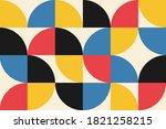 abstract vector geometric... | Shutterstock .eps vector #1821258215