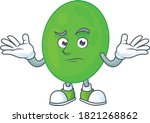 a cartoon image of cocci in... | Shutterstock .eps vector #1821268862