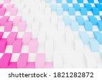 3d Illustration Pink And Blue...
