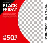 social media black friday sale... | Shutterstock .eps vector #1821289502
