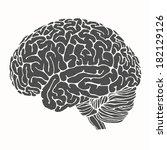 brain | Shutterstock .eps vector #182129126