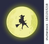 Witch Cartoon Silhouette In...