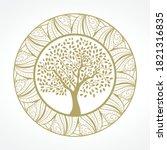 Tree Mandala  Vector Graphic...