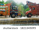 Washing Truck On The Road  ...