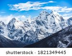 ama dablam mountain view from... | Shutterstock . vector #1821349445