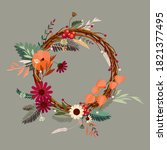 Autumn Wreath Design Template...