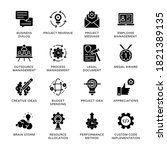 project management glyph icons  ... | Shutterstock .eps vector #1821389135