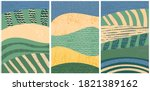 set of abstract landscape... | Shutterstock .eps vector #1821389162