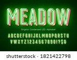 led light 3d alphabet  extra... | Shutterstock .eps vector #1821422798