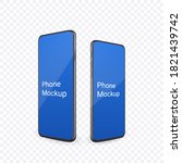 realistic phone mockup with...   Shutterstock .eps vector #1821439742