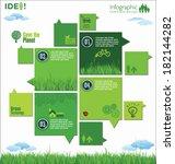 modern ecology design layout | Shutterstock .eps vector #182144282