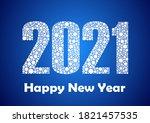 happy 2021 new year. vector... | Shutterstock .eps vector #1821457535