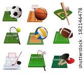 a vector illustration of sport... | Shutterstock .eps vector #182146478