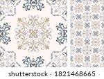seamless azulejo tile.... | Shutterstock .eps vector #1821468665