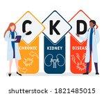 ckd   chronic kidney disease...   Shutterstock .eps vector #1821485015