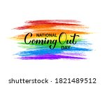 national coming out day...   Shutterstock .eps vector #1821489512