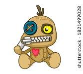Voodoo Doll. Cartoon Cursed...