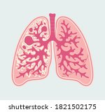 tuberculosis in lung of human.... | Shutterstock .eps vector #1821502175