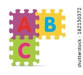 """abc"" written with alphabet... | Shutterstock .eps vector #182150372"