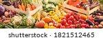 fresh organic vegetables. food... | Shutterstock . vector #1821512465