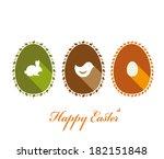 easter greeting card. vector... | Shutterstock .eps vector #182151848
