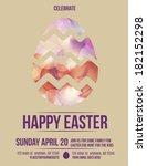 beautiful easter egg flyer... | Shutterstock .eps vector #182152298